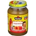 Пюре Хаме с персиком для детей с 5 месяцев стеклянная банка 190г Чехия