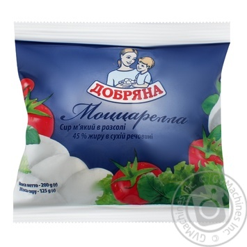 Dobryana Mozzarella Soft In Pickle Cheese - buy, prices for Auchan - image 1