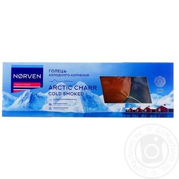 Голец Norven филе холодного копчения вакуумная упаковка 250г - купить, цены на Ашан - фото 1