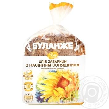 Хліб Буланже Хліб Житомира заварний з насінням соняшника половинка нарізаний 390г - купить, цены на Ашан - фото 1
