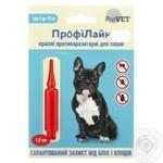 Капли противопаразитарные Природа Профилайн для собак 4-10кг 1шт.х1мл