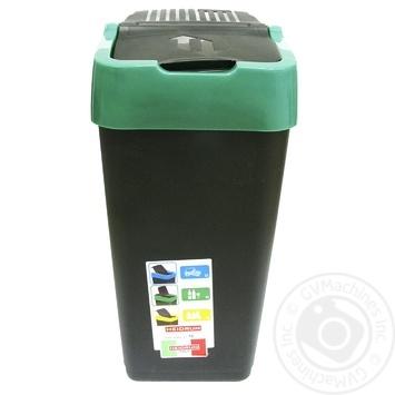Бак мусорный Heidrun Push&Up 1341 18л 29х23х43см