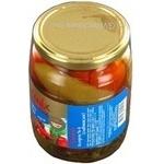 Vegetables tomato Salatmix canned 650g glass jar Ukraine