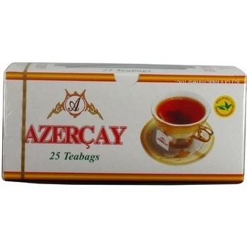 Черный чай Азерчай байховый с ароматом бергамота высший сорт в пакетиках 25х2г Азербайджан