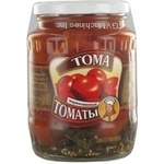 Vegetables tomato Toma red slightly acidic 720ml glass jar Ukraine