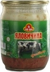 Meat Pan ivan beef canned 500g glass jar