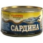 Рыба сардина Штурвал консервированная 240г железная банка Украина