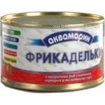 Meatballs Akvamaryn fish in tomato sauce 240g can Ukraine