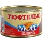 Meatballs More fish in tomato sauce 230g can Ukraine