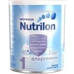 Суміш молочна Нутриція Нутрилон 1 гіпоалергенна суха дитяча з 0 до 6 місяців залізна банка 400г Голландія
