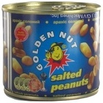 Nuts peanuts Zolotyy horikh golden 125g can Ukraine