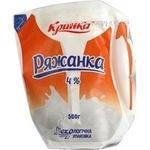 Ряжанка Кринка 4% в еколіні 500г Україна
