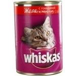 Корм для котів Whiskas Желе Яловичина,Печінка 400г