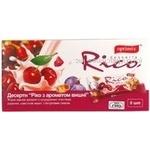 Dessert Optimix Rico cherry 180g in a box Ukraine