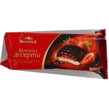 Печенье Корона шоколад клубника 136г в упаковке Украина