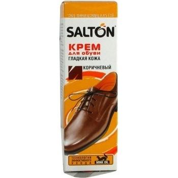 Крем-фарба для взуття Salton коричнева з норковою олією 75мл