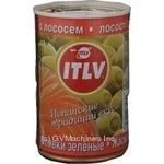 Оливки ITLV зеленые с лососем 314мл