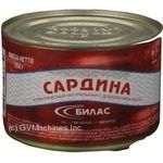 Fish Bilas canned 250g can Russia