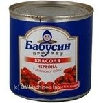 Vegetables kidney bean Babusyn product red in tomato sauce 430g can Ukraine