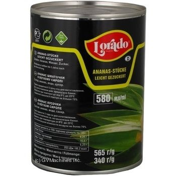 Pineapple chunks Lorado in light syrup 565g Thailand - buy, prices for Novus - image 6