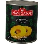 Fruit pineapple Navigator canned 850ml can Thailand
