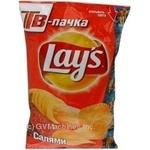 Чіпси картопляні Lay's зі смаком салямі 160г