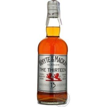Whiskey Whyte and mackay 40% 13yrs 700ml glass bottle Scotland England