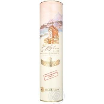 Вино белое Масандра Мускат Белый Красного Камня крепленое десертное специального типа ликерное марочное 13% стеклянная бутылка 750мл Украина