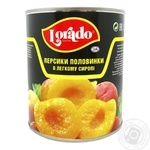 Peach halves in light syrup Lorado 820g Greece
