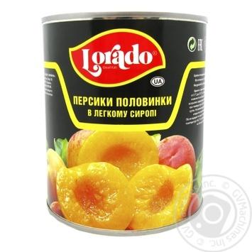 Peach halves in light syrup Lorado 820g Greece