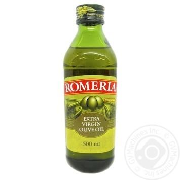 Олія оливкова Romeria нерафінована першого холодного віджиму 500мл