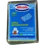 Губка для кухні Целюлозна Nicols 3шт