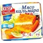 Мясо кальмара Vici Душа океана в панировке порционное замороженное 300г