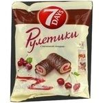 Roll 7 days biscuit cherry in glaze 25g Greece