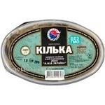 Fish sprat Zahid-riba light-salted 300g hermetic seal Ukraine