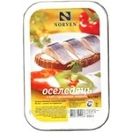 Fish Norven with paprika preserves 300g hermetic seal Ukraine
