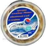 Fish herring Zahid-riba Matie with spices smoked 500g hermetic seal Ukraine