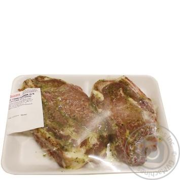 Ошеек свиной на кости в маринаде
