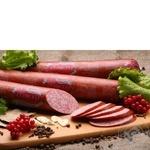 Колбаса сервелат Луганские деликатесы копчено-вареный Украина