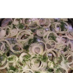 Fish herring Amstor with onion Ukraine