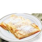Pancakes Amstor Brand with cheese fried Ukraine
