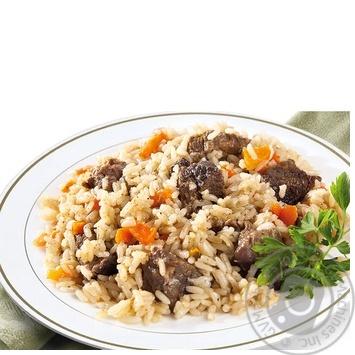 Pilaf Amstor with beef Ukraine
