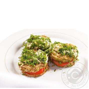 кабачки Амстор с помидорами жареная