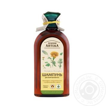 Шампунь Зеленая аптека для жирных волос 350мл - купить, цены на Novus - фото 1