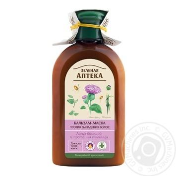 Бальзам-маска Зелена аптека реп'яхова олія проти випадіння волосся 300мл - купити, ціни на Novus - фото 1