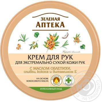 Крем для рук Зеленая Аптека с маслом облепихи 300мл - купить, цены на Novus - фото 1