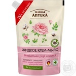 Мило-крем Зелена Аптека мускатна роза і бавовна 460мл