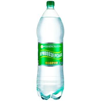 Вода Кривоозерская минеральная столовая слабогазированная 2л