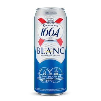 Kronenbourg 1664 Blanc Light Beer 4.8% 0.5l - buy, prices for MegaMarket - image 1
