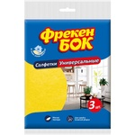 Салфетки Фрекен Бок для уборки влаговпитывающие универсальные 16.5-16.5см 3шт